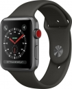 Apple Watch Series 3 (GPS) Aluminium 42mm grau mit Sportarmband grau MR362ZD/A